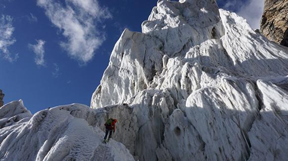 Xari Mayr auf Expedition am Ogre III